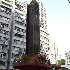 香港皇后大道西钢柱